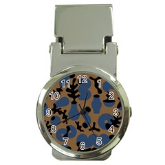Superfiction Object Blue Black Brown Pattern Money Clip Watches by Mariart