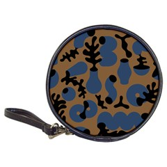 Superfiction Object Blue Black Brown Pattern Classic 20 Cd Wallets by Mariart
