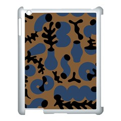 Superfiction Object Blue Black Brown Pattern Apple Ipad 3/4 Case (white) by Mariart