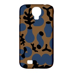 Superfiction Object Blue Black Brown Pattern Samsung Galaxy S4 Classic Hardshell Case (pc+silicone) by Mariart