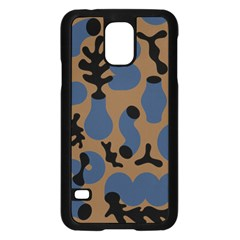 Superfiction Object Blue Black Brown Pattern Samsung Galaxy S5 Case (black) by Mariart