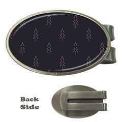 Tree Christmas Money Clips (oval)  by Mariart