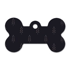 Tree Christmas Dog Tag Bone (two Sides) by Mariart