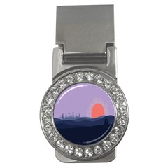 Wedding Lavender Moon Romantic Natural Money Clips (cz)  by Mariart