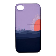 Wedding Lavender Moon Romantic Natural Apple Iphone 4/4s Hardshell Case With Stand by Mariart
