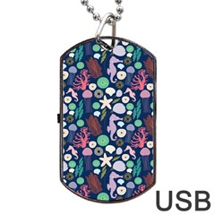 Seahorses Jellyfish Seaworld Sea  Beach Swiim Dog Tag Usb Flash (one Side) by Mariart