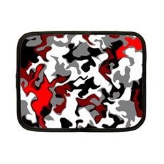 Vector Red Black White Camo Advance Netbook Case (small)  by Mariart