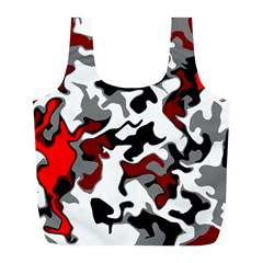 Vector Red Black White Camo Advance Full Print Recycle Bags (l)  by Mariart