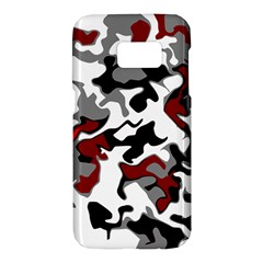 Vector Red Black White Camo Advance Samsung Galaxy S7 Hardshell Case  by Mariart