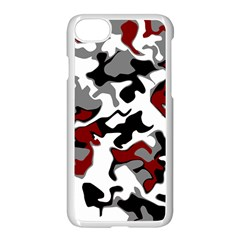 Vector Red Black White Camo Advance Apple Iphone 8 Seamless Case (white) by Mariart