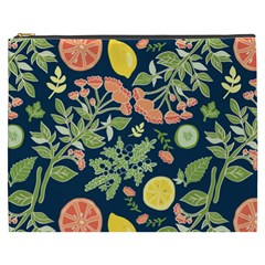 Summer Fruite Orange Lemmon Tomato Cosmetic Bag (xxxl)  by Mariart