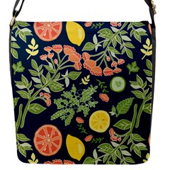 Summer Fruite Orange Lemmon Tomato Flap Messenger Bag (s) by Mariart