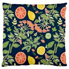 Summer Fruite Orange Lemmon Tomato Standard Flano Cushion Case (one Side) by Mariart
