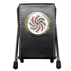Prismatic Hole Rainbow Pen Holder Desk Clocks by Mariart