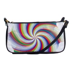 Prismatic Hole Rainbow Shoulder Clutch Bags by Mariart