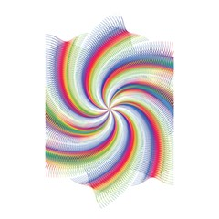 Prismatic Hole Rainbow Shower Curtain 48  X 72  (small)  by Mariart