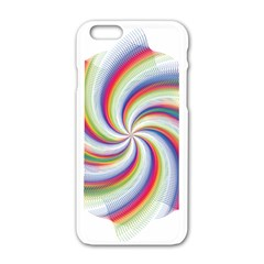 Prismatic Hole Rainbow Apple Iphone 6/6s White Enamel Case by Mariart