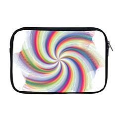 Prismatic Hole Rainbow Apple Macbook Pro 17  Zipper Case by Mariart