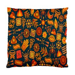 Tribal Ethnic Blue Gold Culture Standard Cushion Case (one Side) by Mariart