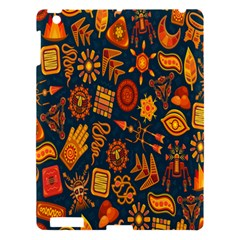 Tribal Ethnic Blue Gold Culture Apple Ipad 3/4 Hardshell Case by Mariart