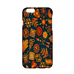 Tribal Ethnic Blue Gold Culture Apple Iphone 6/6s Hardshell Case by Mariart