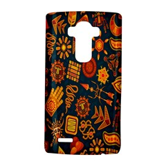 Tribal Ethnic Blue Gold Culture Lg G4 Hardshell Case by Mariart