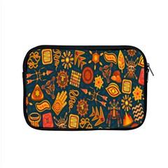 Tribal Ethnic Blue Gold Culture Apple Macbook Pro 15  Zipper Case