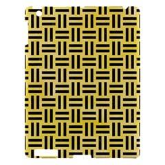 Woven1 Black Marble & Yellow Watercolor Apple Ipad 3/4 Hardshell Case by trendistuff