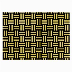 Woven1 Black Marble & Yellow Watercolor (r) Large Glasses Cloth by trendistuff