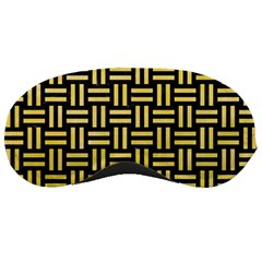 Woven1 Black Marble & Yellow Watercolor (r) Sleeping Masks by trendistuff