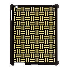 Woven1 Black Marble & Yellow Watercolor (r) Apple Ipad 3/4 Case (black) by trendistuff