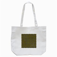 Woven1 Black Marble & Yellow Watercolor (r) Tote Bag (white) by trendistuff