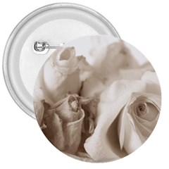 Vintage Rose Shabby Chic Background 3  Buttons