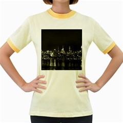 New York Skyline Women s Fitted Ringer T Shirts