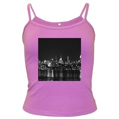 New York Skyline Dark Spaghetti Tank