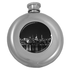 New York Skyline Round Hip Flask (5 Oz)