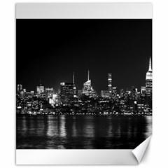 New York Skyline Canvas 8  X 10