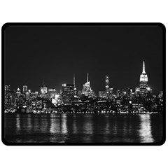 New York Skyline Fleece Blanket (large)