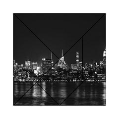 New York Skyline Acrylic Tangram Puzzle (6  X 6 ) by Celenk