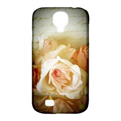 Roses Vintage Playful Romantic Samsung Galaxy S4 Classic Hardshell Case (pc+silicone) by Celenk