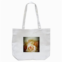 Roses Vintage Playful Romantic Tote Bag (white) by Celenk