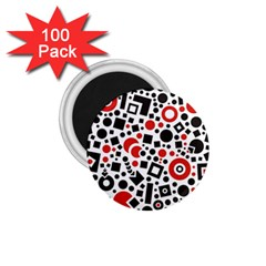 Square Objects Future Modern 1 75  Magnets (100 Pack)  by Celenk