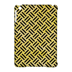 Woven2 Black Marble & Yellow Watercolor Apple Ipad Mini Hardshell Case (compatible With Smart Cover) by trendistuff