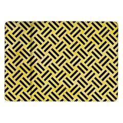 Woven2 Black Marble & Yellow Watercolor Samsung Galaxy Tab 10 1  P7500 Flip Case by trendistuff
