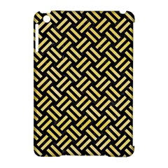 Woven2 Black Marble & Yellow Watercolor (r) Apple Ipad Mini Hardshell Case (compatible With Smart Cover) by trendistuff