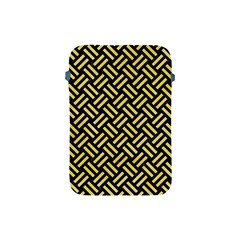 Woven2 Black Marble & Yellow Watercolor (r) Apple Ipad Mini Protective Soft Cases by trendistuff