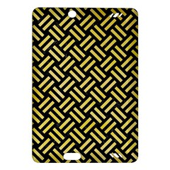Woven2 Black Marble & Yellow Watercolor (r) Amazon Kindle Fire Hd (2013) Hardshell Case by trendistuff