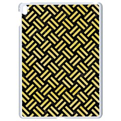 Woven2 Black Marble & Yellow Watercolor (r) Apple Ipad Pro 9 7   White Seamless Case by trendistuff
