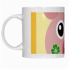Luck Lucky Pig Pig Lucky Charm White Mugs by Celenk