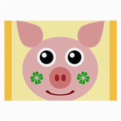 Luck Lucky Pig Pig Lucky Charm Large Glasses Cloth by Celenk